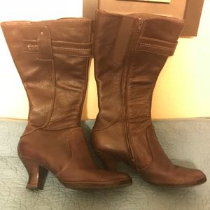 Clarks Reddish Brown Knee High Boots